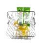portable square vegetable fruit holder Supermarket  metal hand carry Shopping Basket