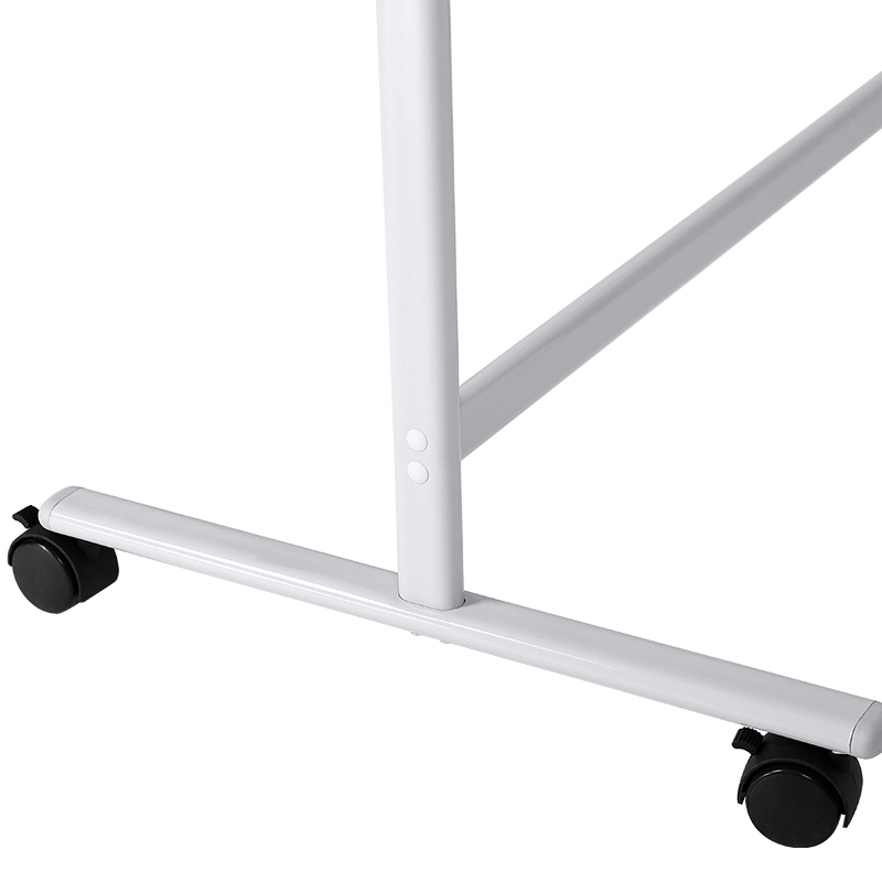 48*95 inches Mobile Magnetic black Dry Erase Writing White Board with movable metal castors