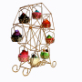 Party decorating fancy foldable iron wire plate candy bread metal steel tray gold wedding cupcake cup cake stand