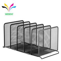 wholesales supplier 6 Vertical Compartments hot sale stackable desktop File Organizer Sorter