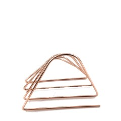 3 Tier Section Mail Document File Organizer High quality Office Iron wire Rose Gold Plating Desk Letter Tray