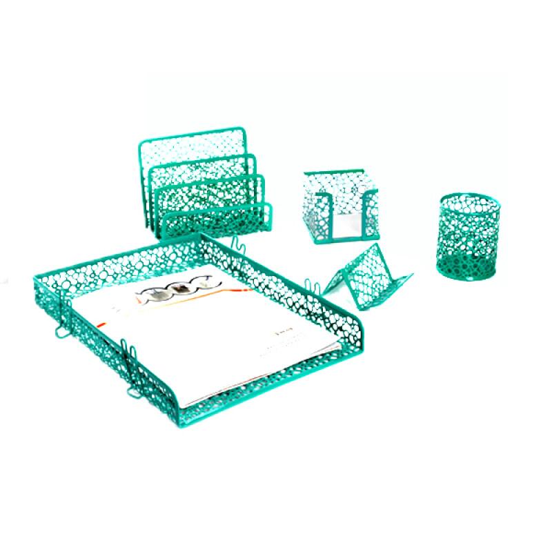 Sticky Note Holder pen cup Desk Accessories 5 Piece innovative office stationery gift set promotional