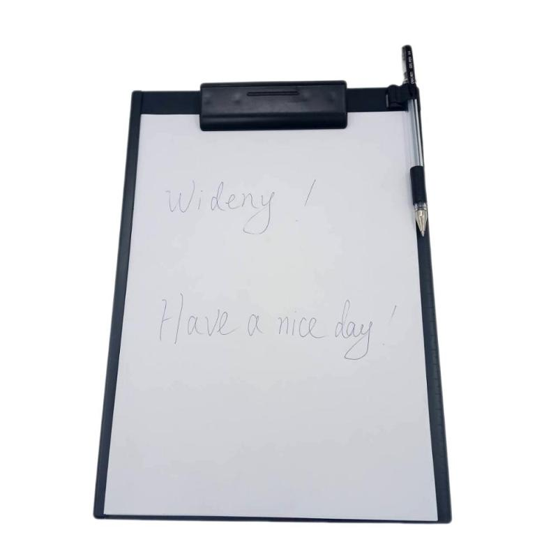 Manufacture Direct Sale Office Restaurant Menu A4 Waterproof Plastic Storage Folding Clipboard Clips