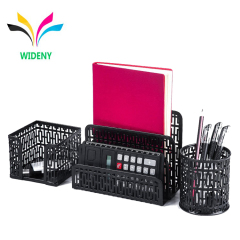 Wideny Office Wire metal 3pcs Letter Sorter Desk Stationery Set