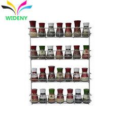 Wideny  Home Storage Organizer3 tier  Metal wire Iron Kitchen wall mount display jar spice rack