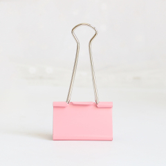 Office Stationery 15mm multiple color Mini Metal Paper Clamp Binder Clips with high quality