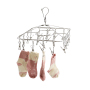 Wideny Storage Organization Fabric Silver High pressure Multi-clip Hotel Cloth Hanger for Babies