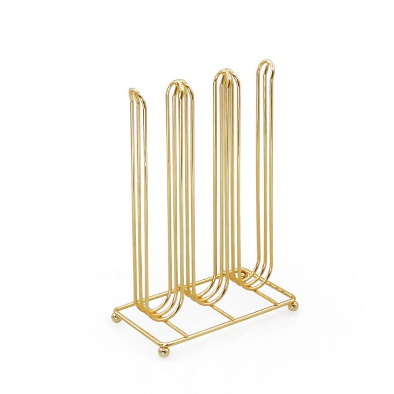 High Quality powder coated gold table top nespresso pod coffee capsule holder