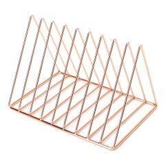 High quality gold iron metal  custom triangle conference business portfolio file organizer