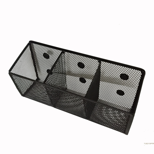 Best -selling square metal mesh black pen holder for office & school Desk Organizer