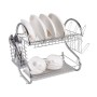 High Quality Kitchen Mini S Shape Eco-Friendly Freestanding Stainless Steel Drainer Dish Rack