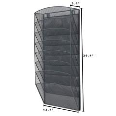 Amazon office home storage black mesh hanging wall mounted document file holder for letter organizer rack