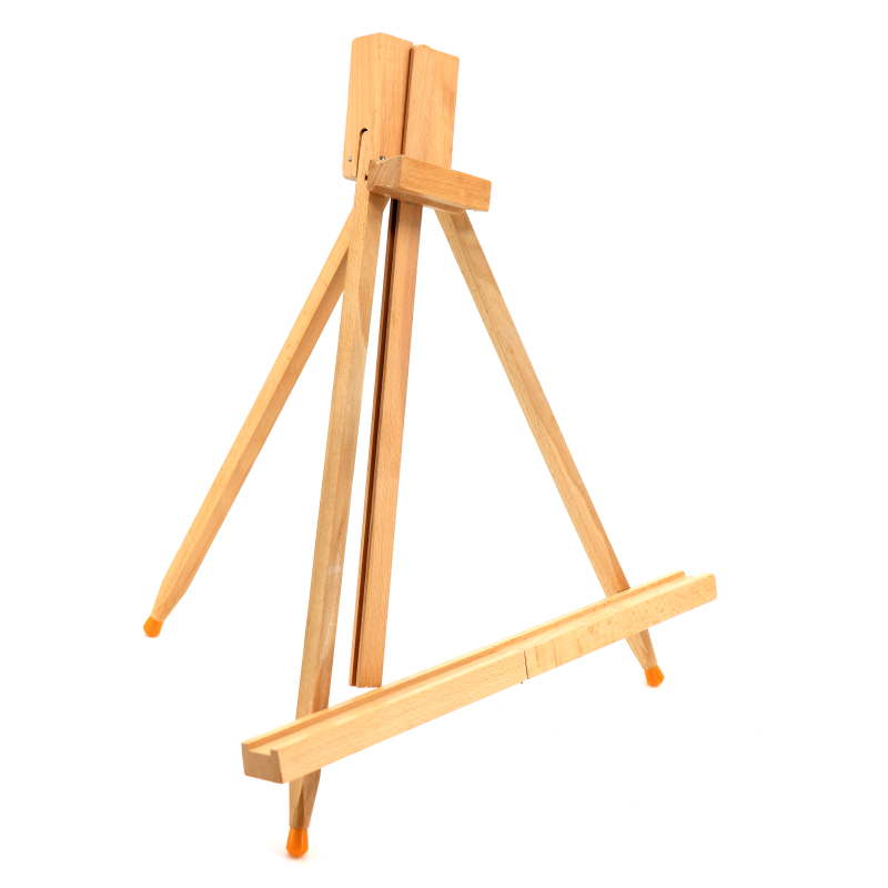 Portable Wooden Tripod Tabletop Display Easel for Sketching Painting
