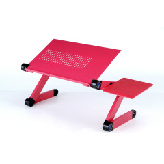 New Design Popular Black Aluminum Office Home Supply Flooring Stand Desktop Adjustable Folded PortableLaptop Table Stand