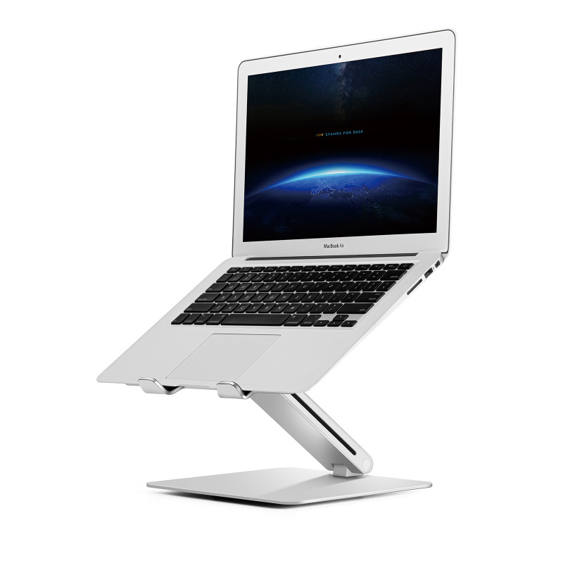 Portable Laptop Stand, Aluminum Foldable Holder Adjustable Height Aluminium Alloy Laptop Stand Adjustable Laptop Desk