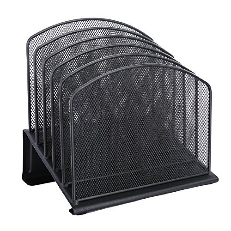 Sample free black Incline Sorter Collection iron metal wire mesh desk desktop letter step file holder Magazine File Organizer