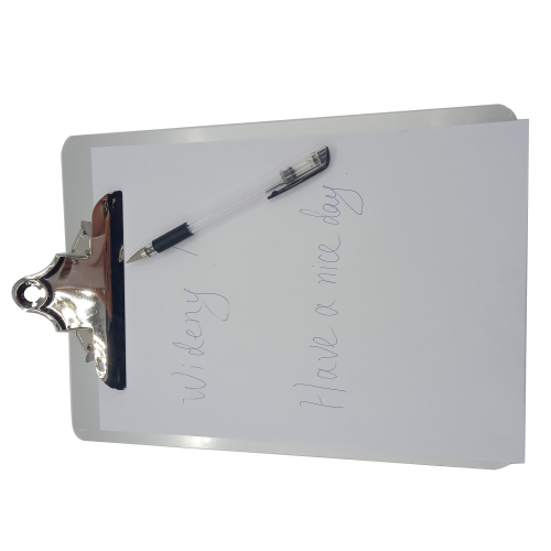 custom logo printed ABC letter size carbon clipboard for sliver aluminum cheap storage clipboards