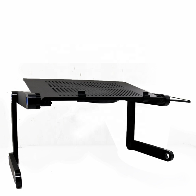 Home office lap desk portable adjustable aluminum 360 degree laptop desk for sofa