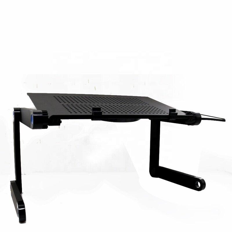 Home office lap desk portable adjustable aluminum 360 degree laptop desk for sofa
