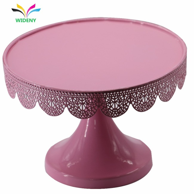 Wideny Home Rotating Wire Metal plate pink wedding party bread candy fruit cup cake cupcake cake stand