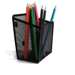 Small Metal Mesr Magnetic Pencil Holder For Office Storage Fridge Whiteboard Magnetic Office Pen Holder