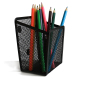 Small Metal Mesr Magnetic Pencil Holder For Office Storage Fridge Whiteboard Magnetic Office Pen Holder