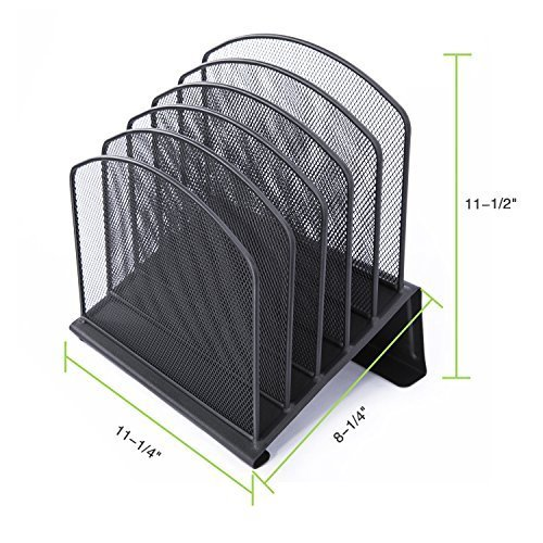 Durable Steel Construction Wire mesh desktop organizer file magazine holder Vertical Section Incline letter mail file Sorter
