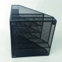 mazon Hot Sale Personalized Private Label Pen Stationery  Multifunctional Simple Free Metal Mesh Desk Organizer Office