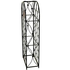 wholesale home decorative wall mounted folding metal wine rack for holder 12 bottle wine