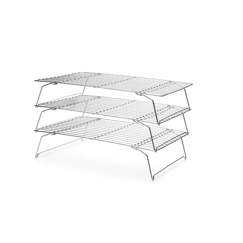 Wholesale Design Metal Wire 3 Tiers Stainless Steel Cooling Rack for Cake Bakery Bread Food Cookie Grid