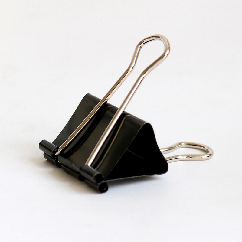 Personalized Custom 19mm Black Mini Metal Wire Paper Clamp Binder Clips