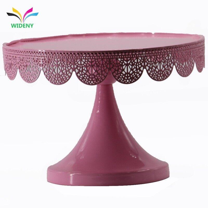 Wholesale supplier metal wedding elegant simple stackable decorative  cake stand set