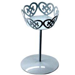 Home Wedding decoration Eco Friendly Mini fancy metal wire single cupcake cake stand