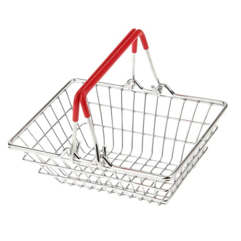 Free Sample Supply Chromed Hand Trolley Advertising Promotion Gift Toy Children Metal Shopping Cart