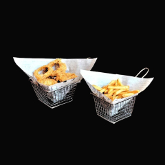 Mini Chrome Chip Fry Fryer Basket french fries baskets commercial deep chip fryer basket