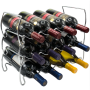 wholesale High Quality Home Decor Kitchen wall mount wine bottle display rack wine rack