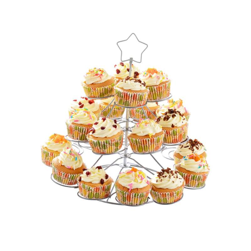 Factory Wholesale Decorating Cake Tools White 3 Tier Metal Iron Cardboard Round Rotating Wedding Cake Stand