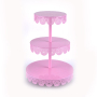 3 Tiers Party Birthday Wedding Folding Multipurpose Fancy Metal Cake Stands