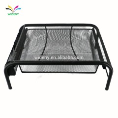 Office home school bank desktop desk organizer table mesh metal computer laptop stand with drawers