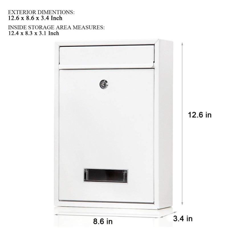 Indoor outdoor House Combination Lock Stainless Steel Galvanized sheet Mail letter Box for mailing and mailer box