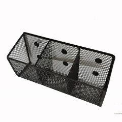 2018 wholesales Best selling office Creative metal wire mesh fridge 3 pcs magnetic magnet  pen holder