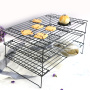 kitchen metal baking cooling racks bread orgainzier Baking display  stainless steel 3 Tier Cooling Rack for Cookies