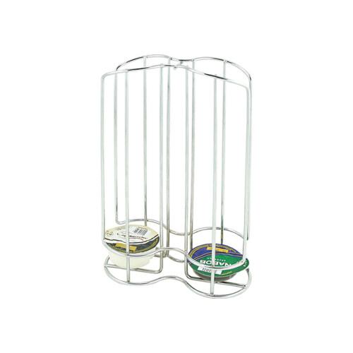 revolving manual metal coffee display capsule rack