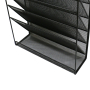 Free sample geometric stackable wall mount metal iron entry file mail wall organizer for hanging document letter