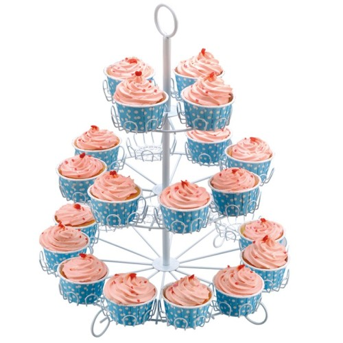 Customized home kitchen 5 Tier Metal Wire Cupcake Packing Wedding Cake Stand