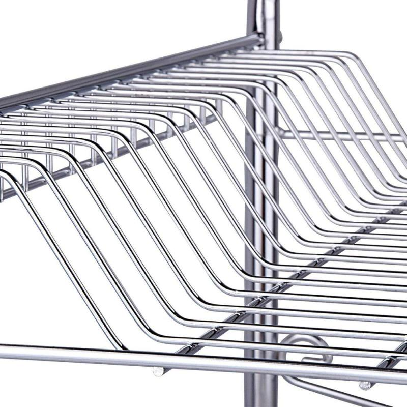 Wideny useful design 3 tier metal dish shelves display rack for kichen and bowl rack