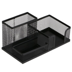 wholesale Multifunctional Office Stationery Metal Mesh Multifunctional Simple Desk Organizer