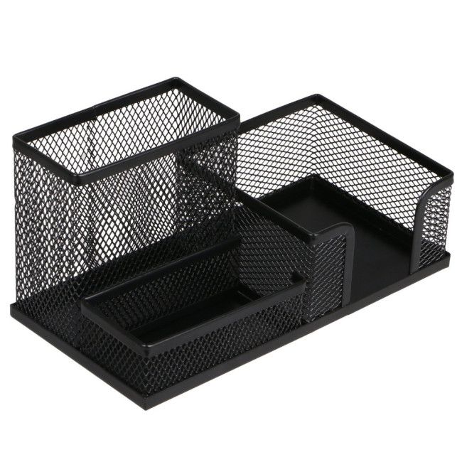 wholesale Multifunctional Office Stationery Metal Mesh Multifunctional Simple Desk Organizer