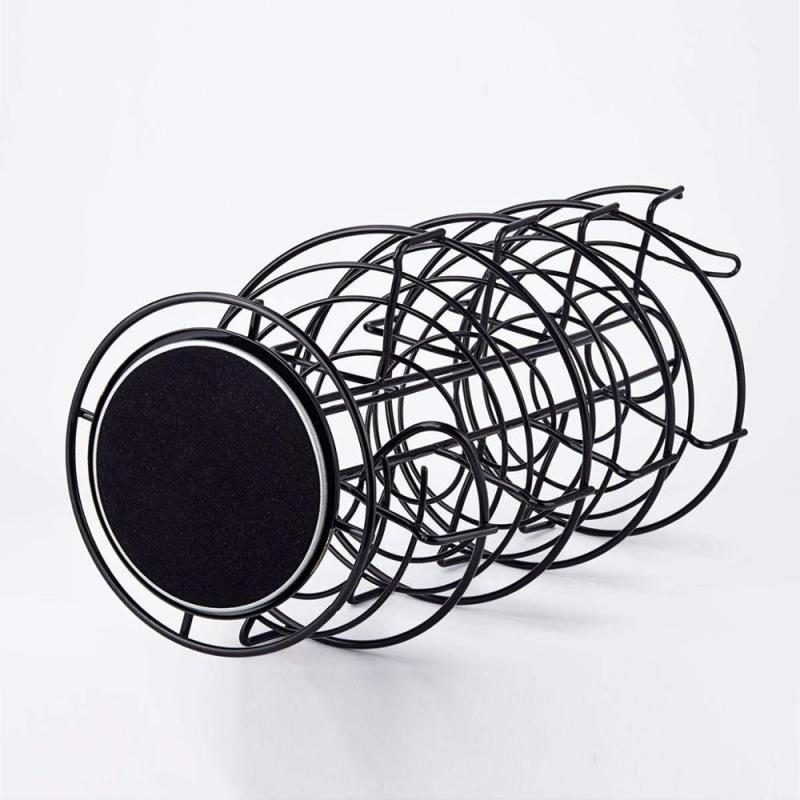 WIDENY wholesale home kitchen Counter top iron Metal Wire round Silver Tone Egg Storage holder