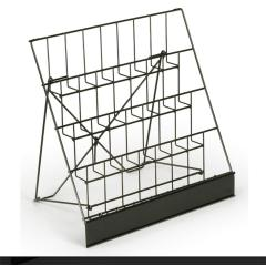 wholesale 2019 new fashion double wide metal design furniture magazine rack for display newspaper magazine